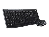 Logitech Wireless Combo MK270 - keyboard and mouse set - English